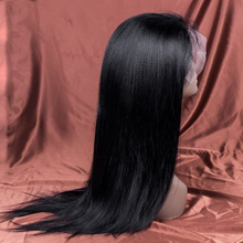 Raw Indian Hair Full Lace Wig Natural Kinky Wig Glueless Yaki Human Hair Wig for Black Women