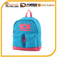 fashion heavy duty cotton canvas school bags backpack