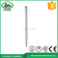 Hot Dipped Galvanized Solar Panel Ground Screw Anchor