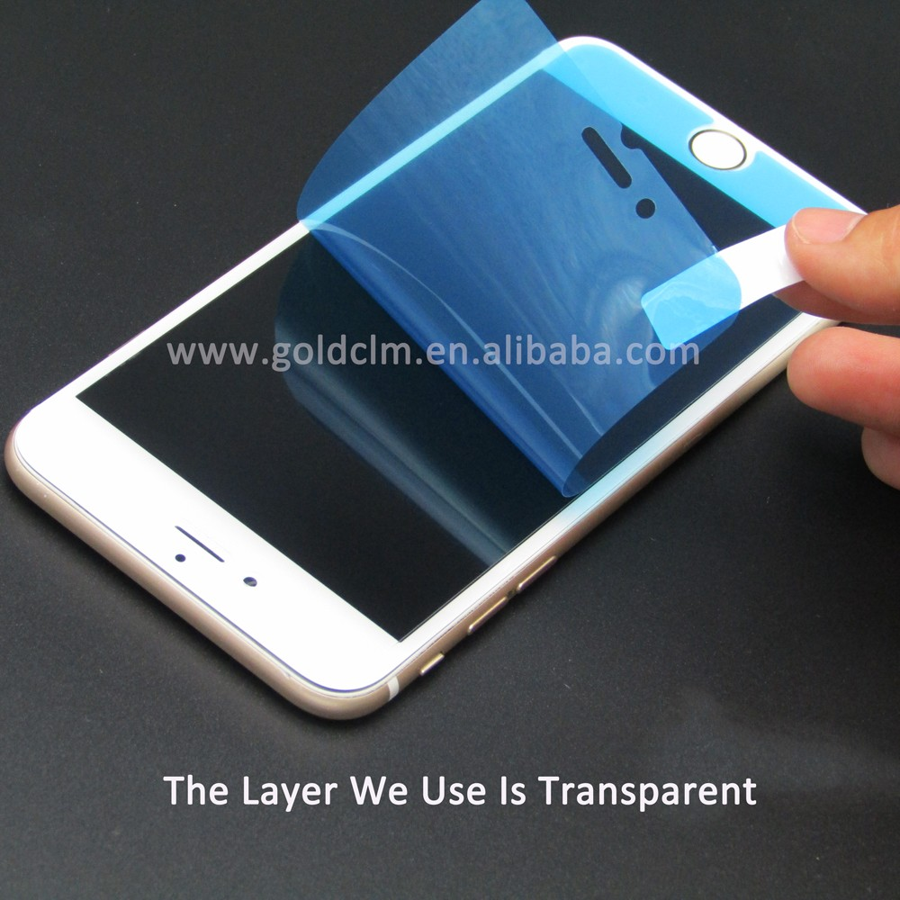 Custom color surface layer 0.2mm liquid mobile ophone screen protector
