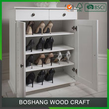 Wall Mounted Shoe Cabinet Wood Shoe Racks
