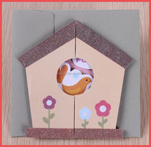new design 3D glitter pop up greeting cards