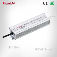 LPV-50W waterproof LED driver with SGS,CE,ROHS,TUV,KC,CCC certification
