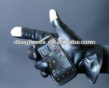 2012 fashion ipad iphone leather touch screen gloves