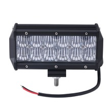 Cold white LED Car Daytime Running Flood Roof Light Bars , 7 Inch 36W 5D LED Driving Light