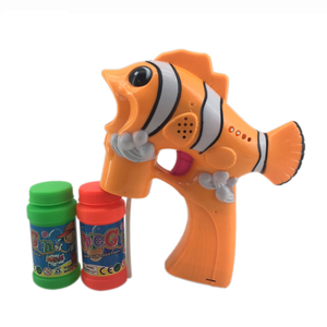Kids summer outdoor toys fish bubble guns with light and music