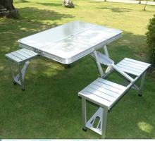 Outdoor Camping Picnic Protable Folding Table And Chair Combined HDPE Plastic Garden BBQ Set