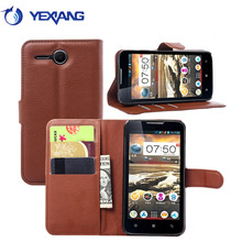 High quality leather case for lenovo a680, flip case for lenovo a680