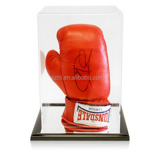 Clear acrylic boxing glove display case with lid