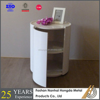 round table/2 tier small wood book shelf