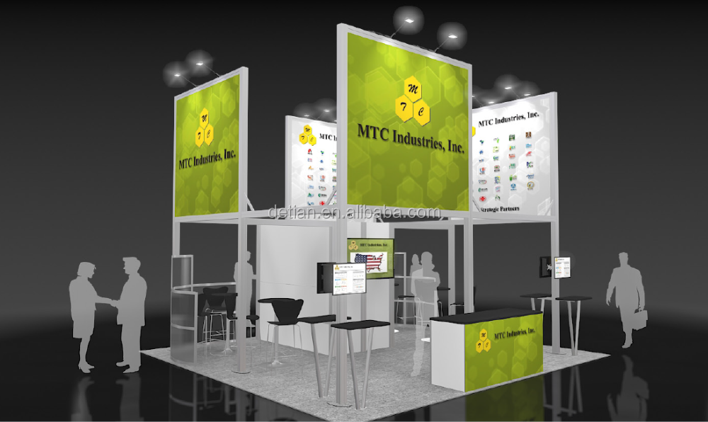 used trade show booth, free design exhibition booth equipment, free design and construction
