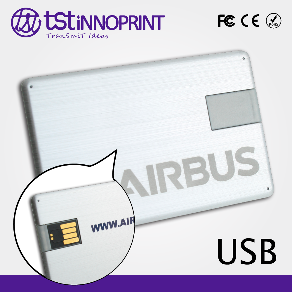 All Data Secure Promotional Credit Card Flash USB Disk