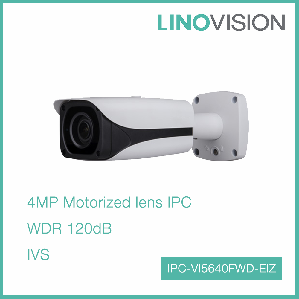 4MP WDR Network Motorized lens 50m IR Bullet Inteligent IP Camera with POE port
