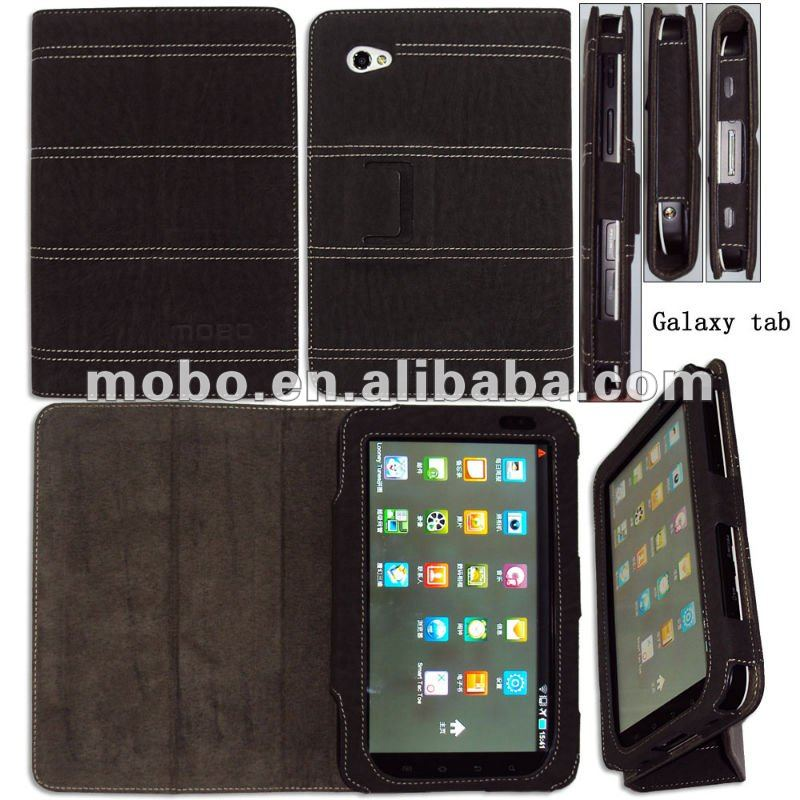 Multifunctional leather flip case for Samsung P1000