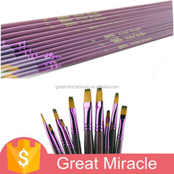 12pcs high quality nylon wool purple oil and watercolor brush pen
