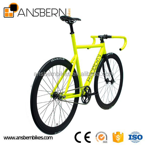 700C 6061 Aluminum Aero Fixie Fixed Gear Bike Single Speed Bike ASB-FG-A10 fixie bike alloy colorful 700C wheelset