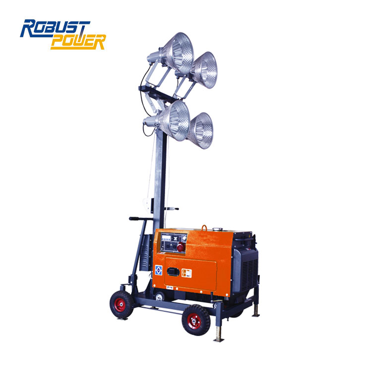 48V DC 4x480W SAA Mobile 4KW Flood Light Tower