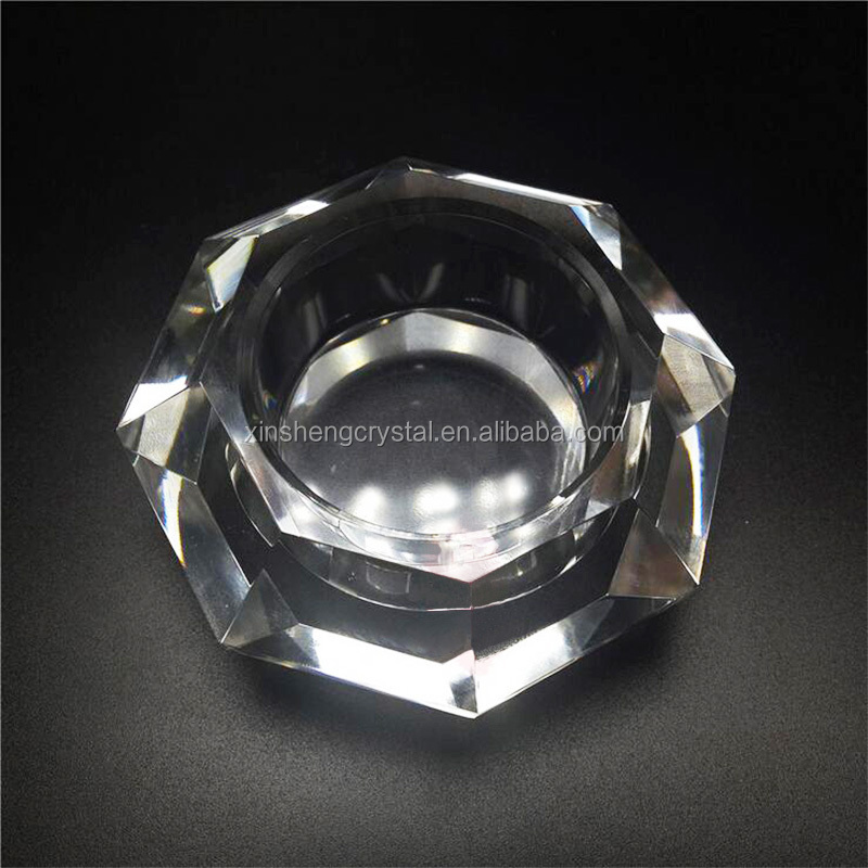 glass diamond tealight candle holders