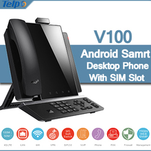 Factory Wholesale New Arrival Android Smart Fixed Desktop VoIP GSM Video Phone Supporting WiFi