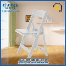 Wimbledom PP Chair Auditorium Foldable Plastic White/Black Chair