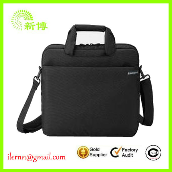 black pofoko laptop sleeve with long handle