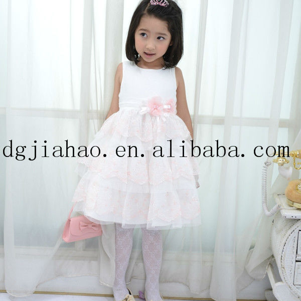 2013 Fashion Red and White Flower Girl Dresses
