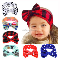 ZOGIFT Baby Floral Printed Top Knot Headband for Girl Hair Fashion Flower Baby Turban Headband Girl Cotton Headwrap Accessories