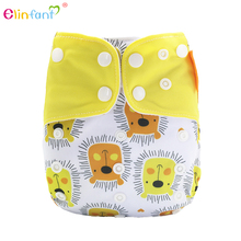 Logo Printed Unique Shape Nice Baby Nighttime Cloth Diaper