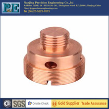 bronze cnc machining parts , turning motor parts, shaft sleeve for coffee grinder