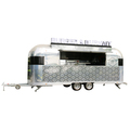 big wheels food trolley cart/mobile food trailer/catering food van