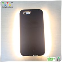 New Glow Shiny Protective different colors back cover Product Light Up Your Face Mobile Cover for iPhone 6 plus WG