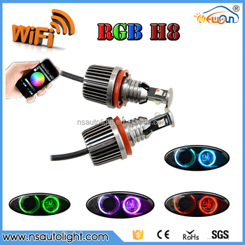 h8 rgb angel eyes led marker 36w for bmw e60 e61 x5 e71 e92 wifi control h8 led angel eyes