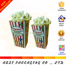 cheap fresh fries popcorn paper packaging food grade boxes with fold packing