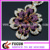 fashion flower design gold dubai plated earring jewelry for wedding