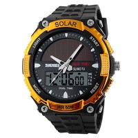 2016 electronic digital watch dual time japan quartz outdoor 30m waterproof dive skmei 1049 solar panel led watch instructions