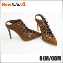 2017 new arrival fancy attractive woman leather shoes