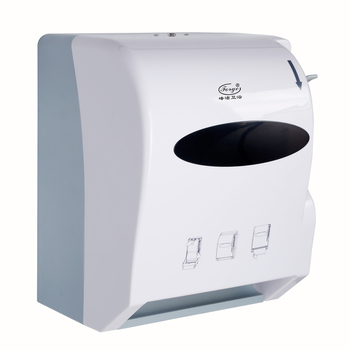 White Plastic Lever Action Paper Dispensers FQ-403-C