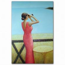 wall mounted abstract beautiful sexy elegant lady art oil painting