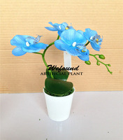 Manufacturers selling European top-grade artificial plants household adornment flowers potted butterfly orchid simulation