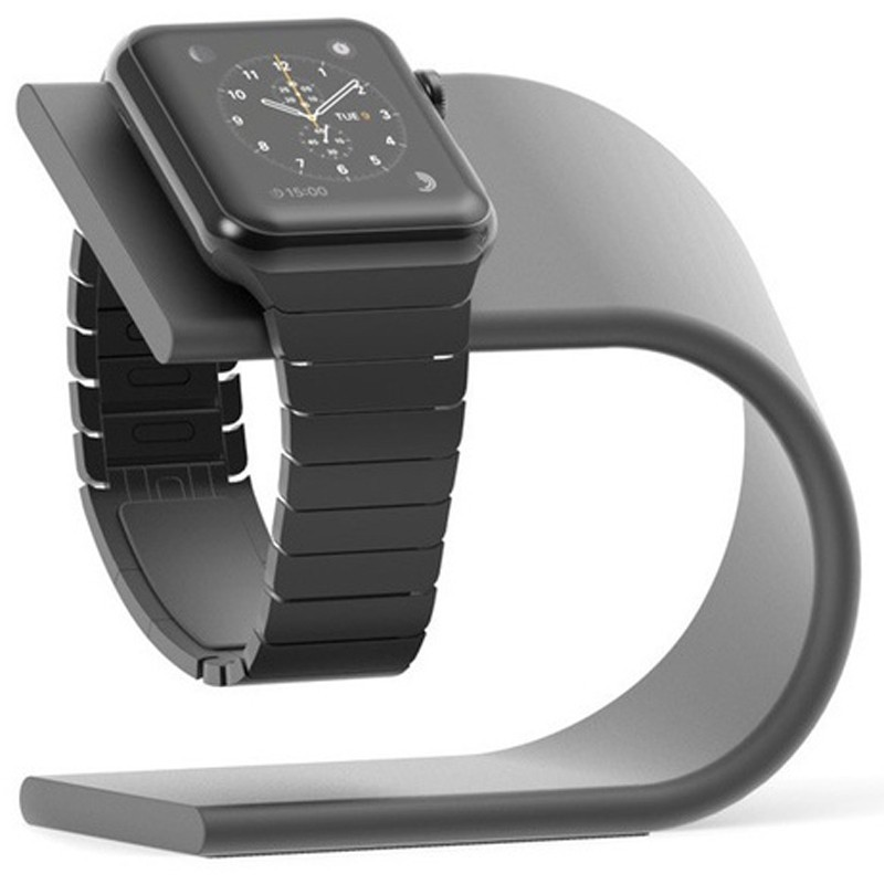 Metal U Style Aluminum Dock Holder Charging Stand for Apple Watch
