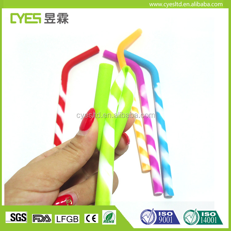 Reusable Eco Friendly Stylish Easy To Clean Drinking Silicone Rubber Straws