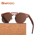 Super star polarized glasses, metal wire and wood sunglasses polarized for men