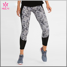 Custom digital Printed Yoga Pants Wholesale Women tights Leggings with back Pocket