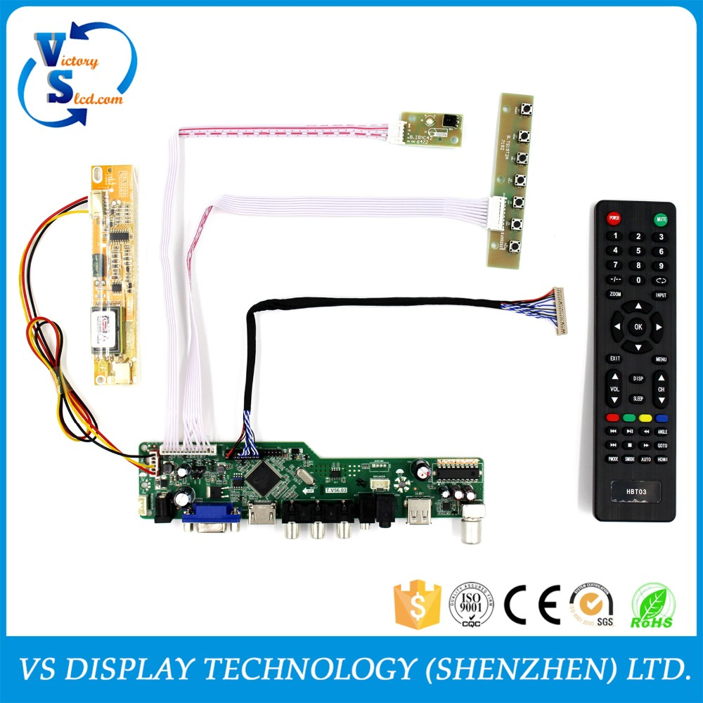 TV lcd controller boards work for 14.1~15inch 1024x768 20Pin lcd Panel