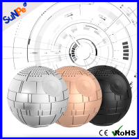 Unique Design Handsfree 3W Mini Round War Star Planet Speaker Wireless Bluetooth
