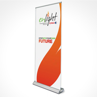 Deluxe Telescopic Broad Base Pull Up Banner