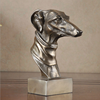 Indoor novel decor resin animal dog head bust sculpture