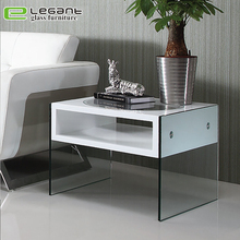 European style Built-in cabinet decorate white gloss small coffee side table