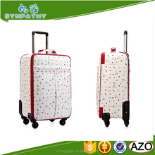 2016 high quality expandable luggage set soft suitcase for girls