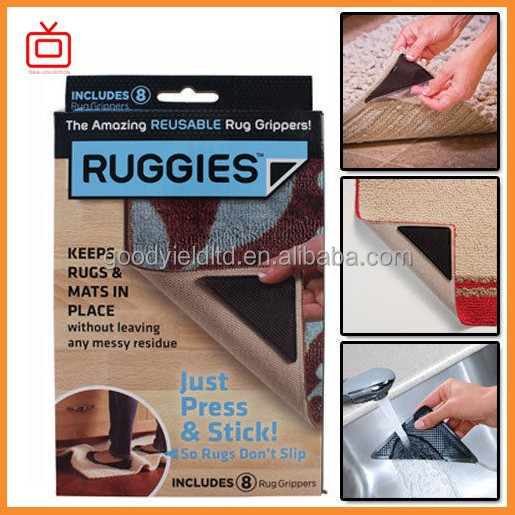 as seen on tv Reusable Triangle Pads 8X Ruggies Rug Carpet Grippers